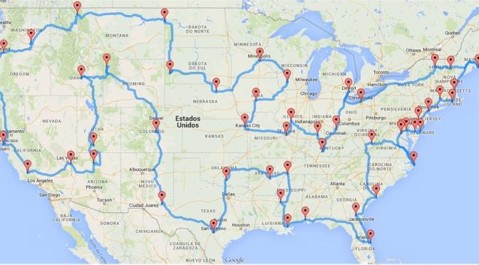 A rota perfeita para quem quer conhecer os EUA de carro criada por um engenheiro