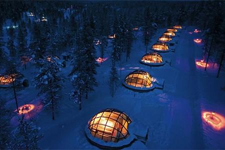 Casas de esquimós, no Alasca, EUA