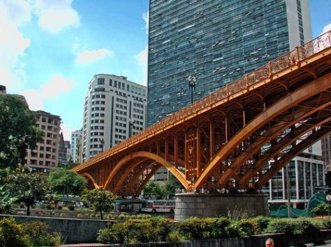 Viaduto do Cha, downton Sao Paulo, Brazil