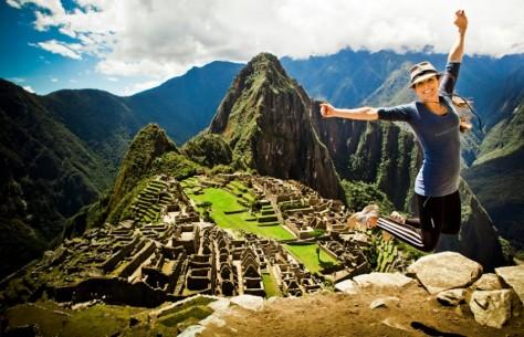 Turista no Machu Picchu