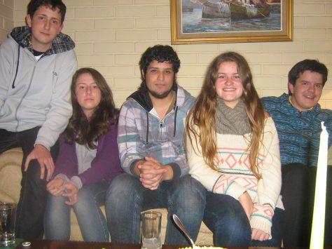 Paula, Jaime, Ignácio e Daniely.