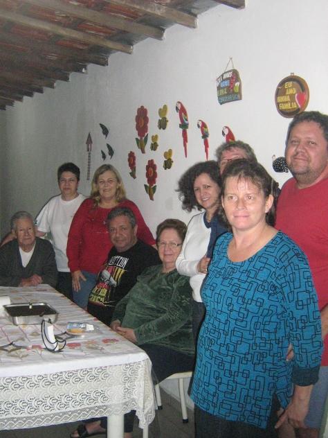 Myriam, Vanderlei, Mauricio, Valquiria, Alaide, Paulo Gomes Jr., Silmara, Valéria e Paulo Gomes.