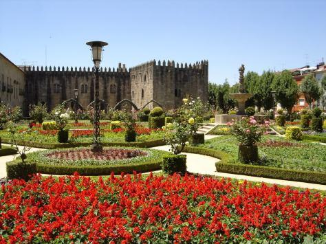 Jardim de Santa Bárbara, no centro histórico da cidade de Braga