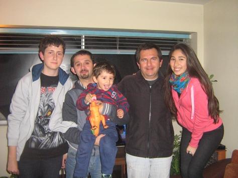 Alejandro, Pilar (não está na foto), Borja, Melanie e Ivan.