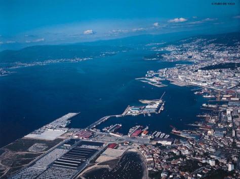 Vista aériea, Vigo